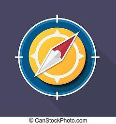 compas, vecteur, illustration, icône