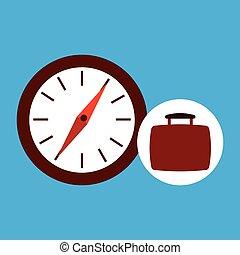 compas, voyage, concept, emplacement, gps