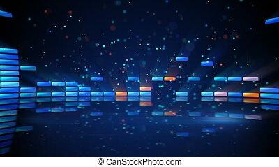 compensateur, brillant, reflet, boucle, numérique