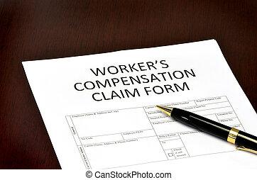 compensation, ouvrier, formulaire