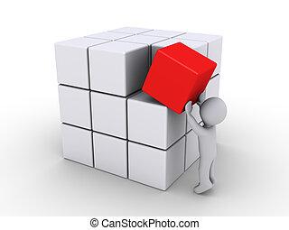 compléter, cubes