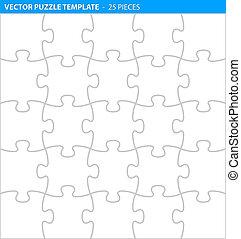 complet, (25, puzzle, puzzle, /, pieces), gabarit