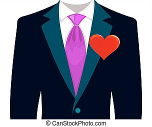 complet, amour, homme, mariage