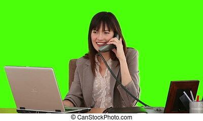 complet, elle, bureau, fonctionnement, femme affaires
