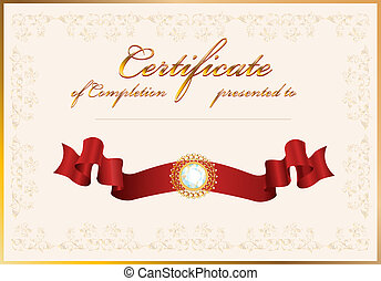 completion., certificat, template.