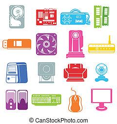 composant ordinateur, icônes