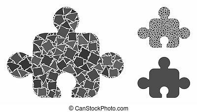 composant, parties, mosaïque, irrégulier, icône
