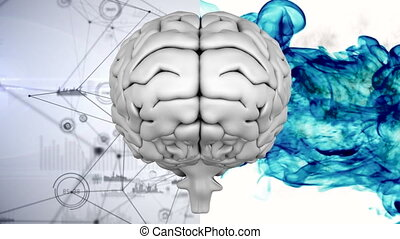 composite, cerveau, numérique