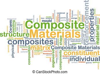 composite, concept, fond, matériels