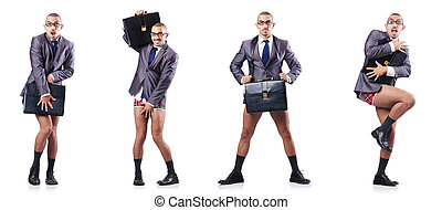 composite, photo, blanc, homme affaires