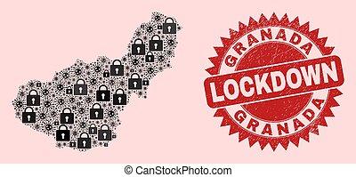 composition, cachet, viral, lockdown, province, timbre, serrures, grenade, articles, gratté, carte