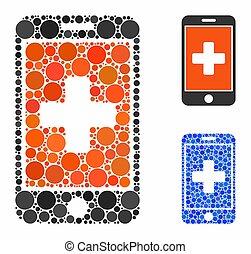 composition, cercles, mobile, médecine, icône