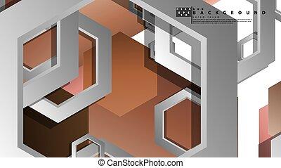 composition., hexagones, peau, fond, illustration, résumé, géométrique, vecteur, couleur