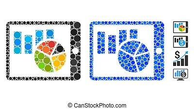 composition, icône, cercles, rapport, mobile
