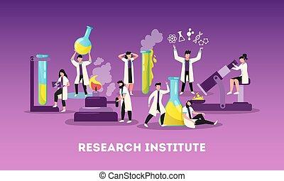 composition, recherche, science, plat