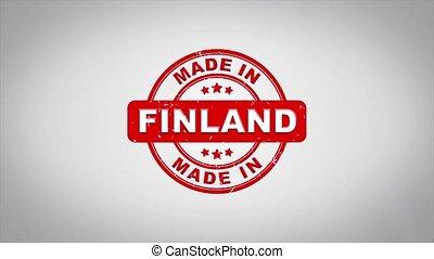 compostage, bois, texte, animation., finlande, signé, timbre, fait