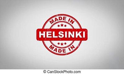compostage, helsinki, bois, texte, animation., signé, timbre, fait