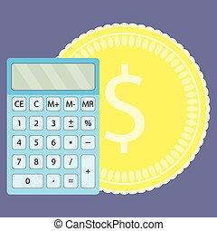compte, argent, calculatrice