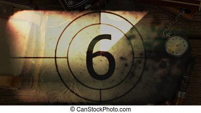 compte rebours, montre, dix, voyage, sur, une, vendange, animation, articles