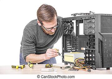 computer., réparation