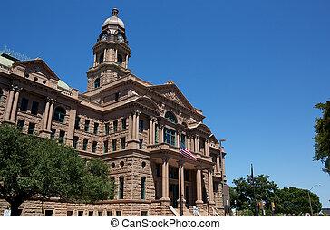 comté, historique, tribunal, tarrant
