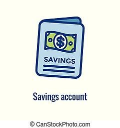 concept, économie, finance, personnel, argent, -, responsabilité, implique, icône