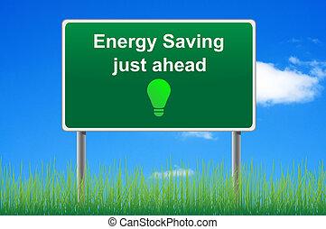 concept, énergie, ciel, économie, signe, arrière-plan., route