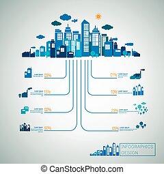 concept, énergie, infographic, conception, gabarit