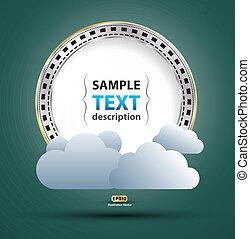 concept, étiquette, nuage