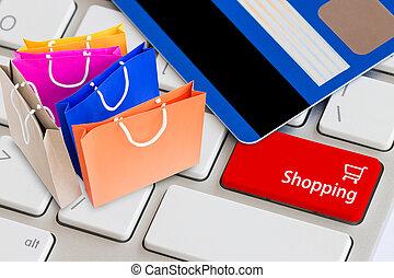 concept, achats, facile, ligne
