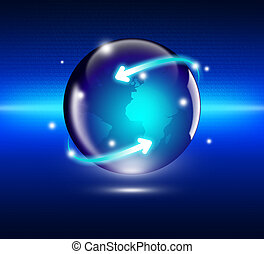 concept, affaires globales, internet