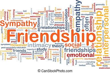 concept, amitié, fond