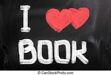 concept, amour, livre