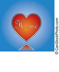 concept, amour, maison, illustra, maison, ou