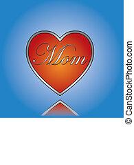 concept, amour, maman, illustration
