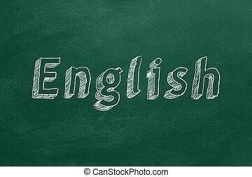 concept, anglaise, apprentissage