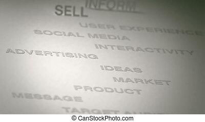 concept, animation, publicité