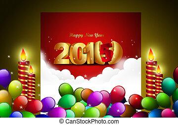 concept, année, 2015, nouveau, célébration, heureux