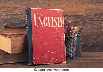 concept, apprentissage, anglaise