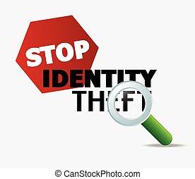 concept, arrêt, vol identité