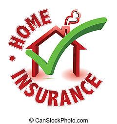 concept, assurance, maison