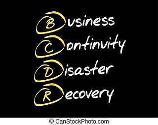 concept, bcdr, business, acronyme