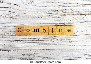 concept, blocs, bois, fait, combiner, mot