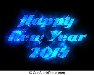 concept, bois, fond, année, 2015, nouveau, célébration, heureux