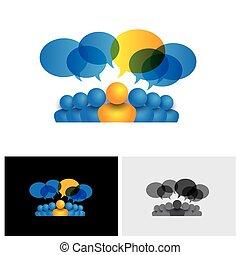 concept, bureau, &, ou, directeur, vecteur, direction, personnel, éditorial, icône