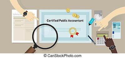 concept, business, cpa, comptable, papier, certifié, education, table., public, certification.