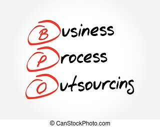 concept, business, fond, acronyme, outsourcing, processus, -, bpo