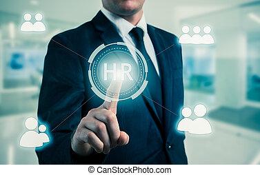 concept, choisi, recrutement, points, icon-hr, homme affaires