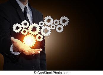 concept, collaboration, engrenage