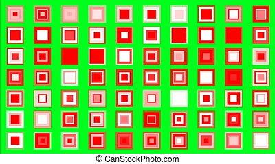 concept, coloré, écran, scintillement, vert, minimalisme, carrés